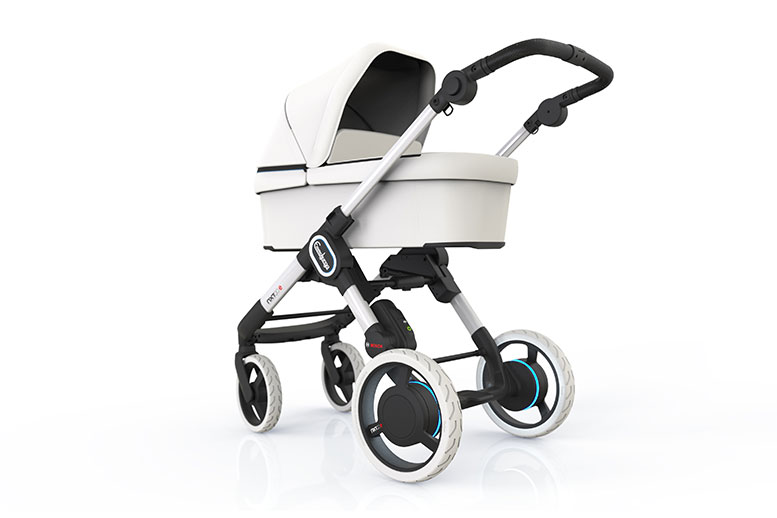 Prams of the future – pushing your child with motor drive