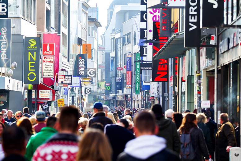 EHI study – occupies stationary shops characterise German retail trade